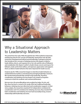 why a situational approach to leadership matters